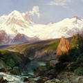 The Teton Range by Thomas Moran