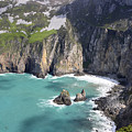 The Turquoise Water At Slieve League Sea Cliffs Donegal Ireland  by Pierre Leclerc Photography