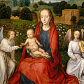 The Virgin And Child Between Two Angels by Hans Memling