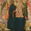 The Virgin And Child Enthroned With Angels by PixBreak Art