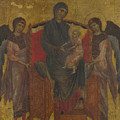 The Virgin And Child Enthroned With Two Angels by PixBreak Art