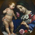 The Virgin And Child With Flowers by PixBreak Art
