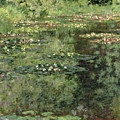 The Water-lilies Pond  by Claude Monet