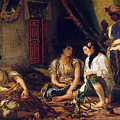 The Women Of Algiers In Their Apartment by Eugene Delacroix