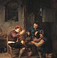 Three Peasants At An Inn by Adriaen van Ostade