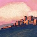 Tibetan Fortress by Nicholas Roerich