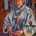 Tibetan Refugee - Paint by Steve Harrington