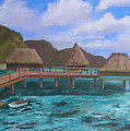 Tiki Hut Vacation by Mark Perry