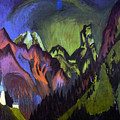 Tinzenhorn Zugen Gorge Near Monstein by Ernst Ludwig Kirchner