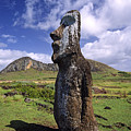 Tongariki Moai On Easter Island by Michele Burgess