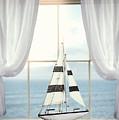 Toy Boat In Window by Amanda Elwell