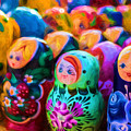 Family Of Mother Russia Matryoshka Dolls Oil Painting Photograph by John Williams