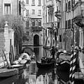 Traditional Venetian Gondolier by Toula Mavridou-Messer