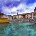 Trafalgar Square Fountain London 5 Art B by Alex Art and Photo