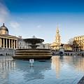 Trafalgar Square National Gallery by Mike Walker
