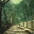 Tree Shadows In The Park Wall by John Atkinson Grimshaw