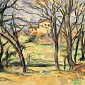 Trees And Houses Near The Jas De Bouffan by Paul Czanne