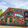 Tribal Totem Pole In Ketchikan Alaska by Alex Grichenko