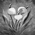 Tropical Flowers In Black And White by Gina De Gorna