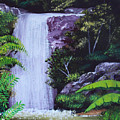 Tropical Waterfall by Luis F Rodriguez