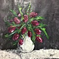 Tulips In A Vase by Cristina Stefan