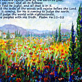 Tuscany Fields With Scripture by Lou Ann Bagnall