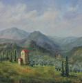 Tuscany Italy Olive Groves by Katalin Luczay