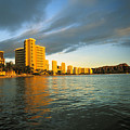 Twilight Waikiki by Peter French - Printscapes