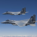 Two F-15 Eagles Conduct Air-to-air by HIGH-G Productions