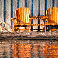 Two Wooden Chairs by Les Palenik