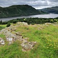 Ullswater Lake From Gowbarrow Fell, Lake District by Dave Porter