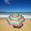 Umbrella On Beach by Ron Dahlquist - Printscapes