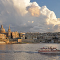 Valetta Skyline, Malta. by David ELLIOTT