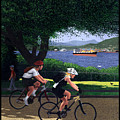 Vancouver Bike Ride Poster by Neil Woodward