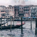 Venice Channels by Yury Bashkin