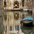 Venice Restaurant On A Canal  by Gordon Wood