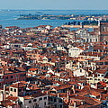 Venice Skyline Panorama Viewed From Above  by Songquan Deng