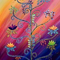 Vibrant Tree Of Life by Catherine Barry