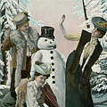 Victorian Christmas Card by American School
