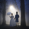 Victorian Couple At Night by Lee Avison