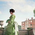 Victorian Woman In A Green Dress by Lee Avison