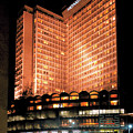 View Of Hong Kong Hilton At Night by Carl Purcell