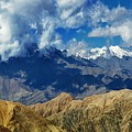 View Of Snow Peaks Leh Ladakh  Jammu And Kashmir India by Rudra Narayan  Mitra