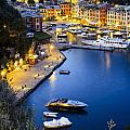 View Of The Harbour At Dusk  Portofino by Yves Marcoux