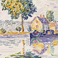 View Of The Seine, Samois by Paul Signac
