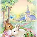 Vintage Easter Bunnies by Patrick Hoenderkamp