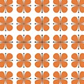 Vintage Floral In Orange by Donna Mibus