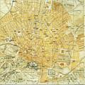 Vintage Map Of Athens Greece - 1894 by CartographyAssociates