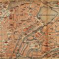 Vintage Map Of Hamburg Germany - 1910 by CartographyAssociates