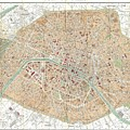 Vintage Map Of Paris  by CartographyAssociates
